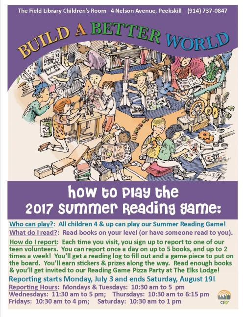 How to play the 2017 Summer Reading Game