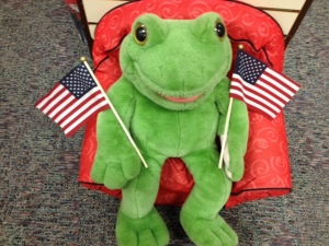 Froggy with Flags