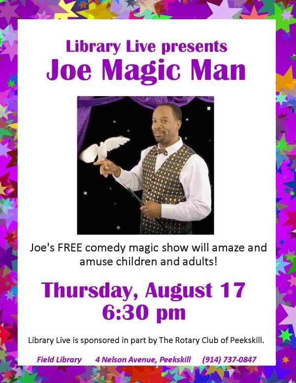 Joe Magic Man Library Live Flyer