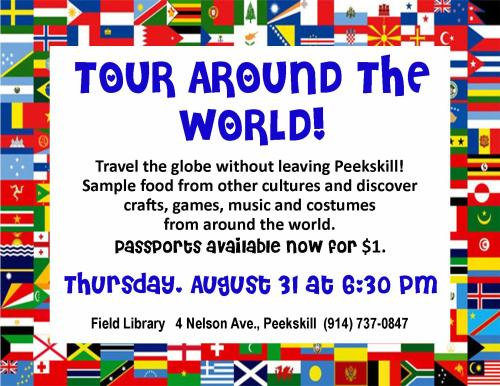 Tour Around the World Flyer for blog