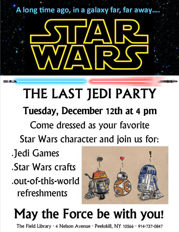 Star Wars Party flyer