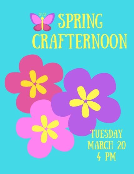 Spring Crafternoon Flowers
