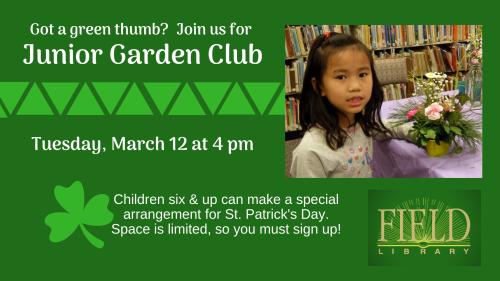 Junior Garden Club March
