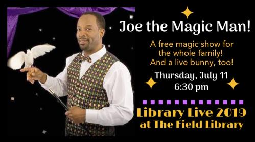 Library Live 2019 Joe the Magic Man for FB