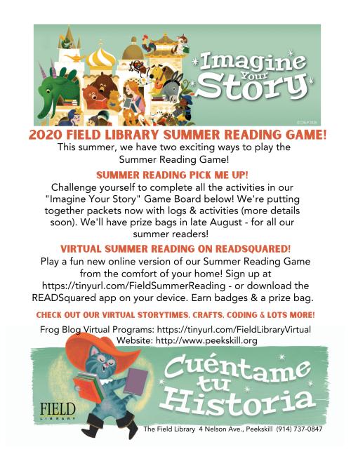 Frog Blog 2020 Summer Reading Game